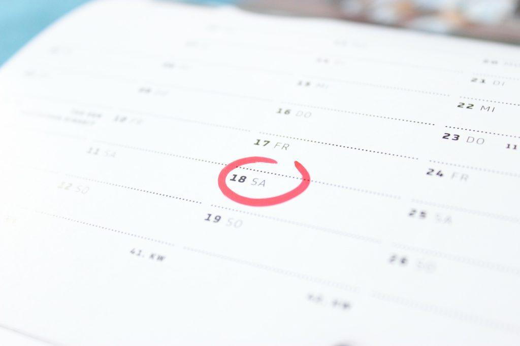 セミナーの日程